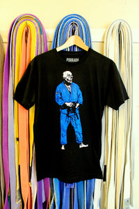 BJJ Skull Guy Black and Blue Gi T-shirt