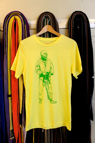 BJJ Skull Guy Yellow and Green T-Shirt