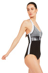 Essential Halter Neck Front Zip One Piece Swimsuit