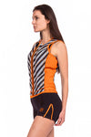 Vibrant Stripes 0.5 MM Long Board Shorts with Zips
