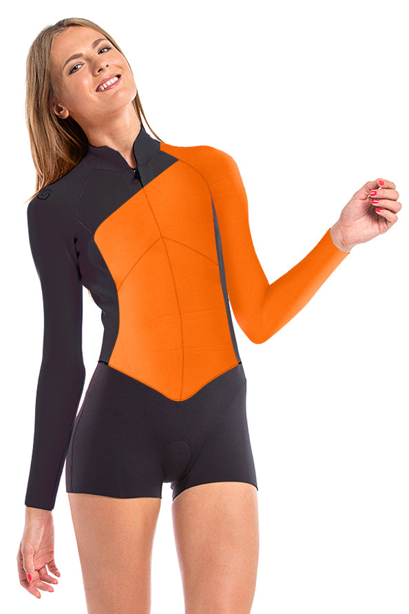 Vibrant Stripes 2 MM Long Sleeve Front Zip GBS Springsuit