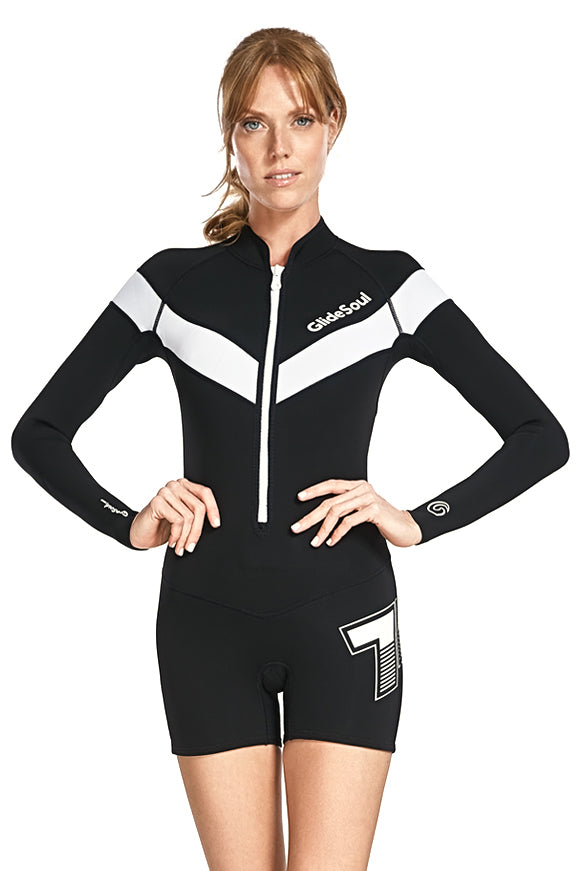 FlashBack 74 2 MM Long Sleeve Front Zip GBS Springsuit