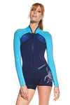 Available Now! Sparkling Summer 2 MM Long Sleeve Front Zip GBS Springsuit