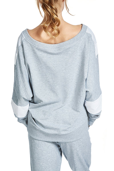 Sweatshirt with V-Neck