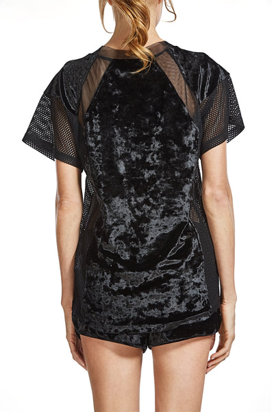 Velvet Basketball T-Shirt with Mesh details