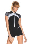 Essential 1 MM Short Sleeve Front Zip Springsuit
