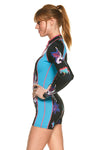 Bloom 1 MM Long Sleeve Front Zip FLT Springsuit Reversible