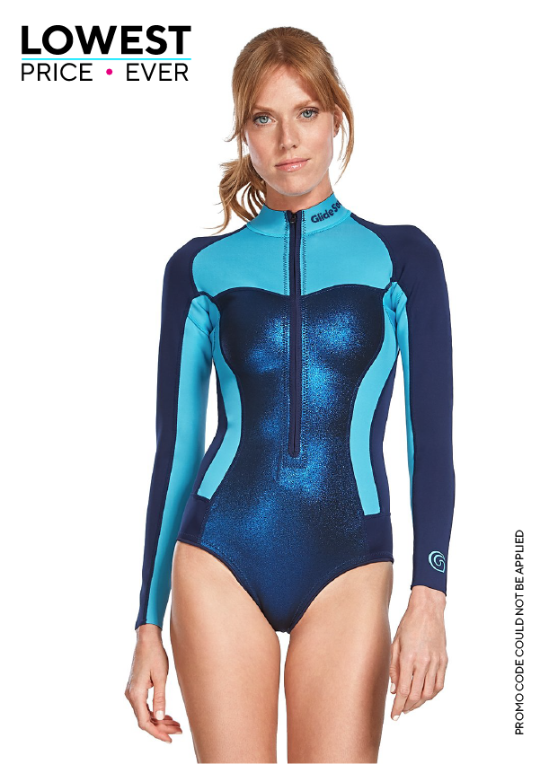 Bloom 0,5 MM Long Sleeve Front Zip Bikini Cut Shorty. OUR.BEST.OFFER