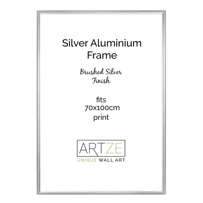 Silver Metal Frame for 70x100cm Print
