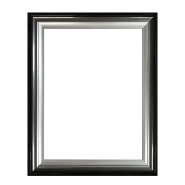 Silver Gunmetal Black Gradient Picture Frame for 50x70cm print
