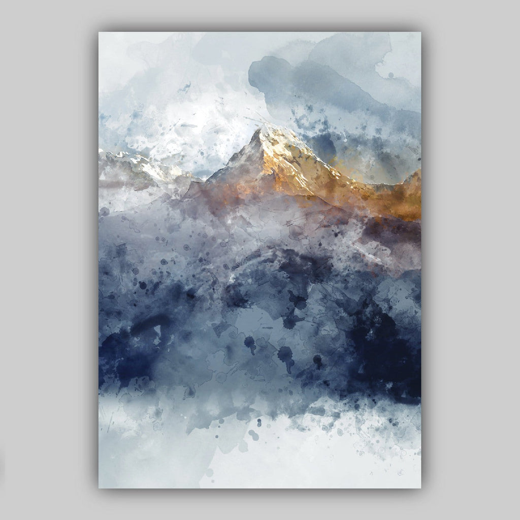 Set of 3 Black /& White Mountains Watercolour Art Print Posters A4 A3 A2 A1 Sizes