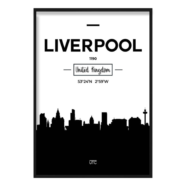 Liverpool City Skyline Cityscape Print