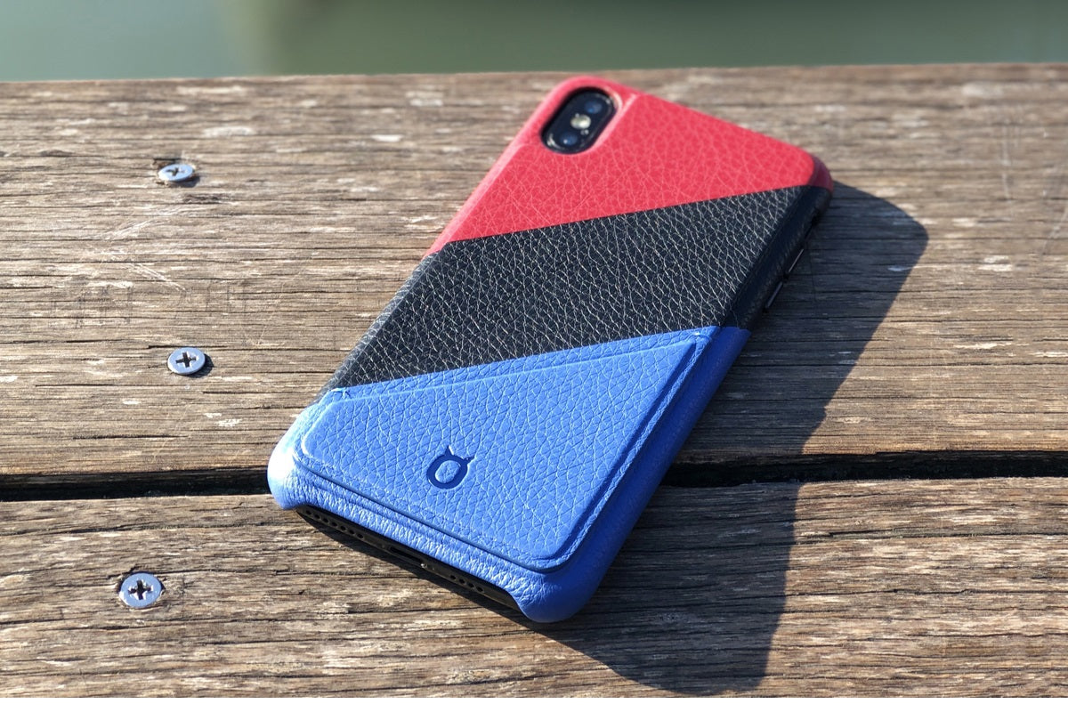 Hide n Go_iPhone Mix N Match Case_iPhone XS Max Italian Leather Case