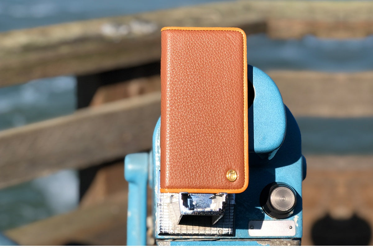 C. Edge Leather Folio_LUX_iPhone XS Italian Leather Case