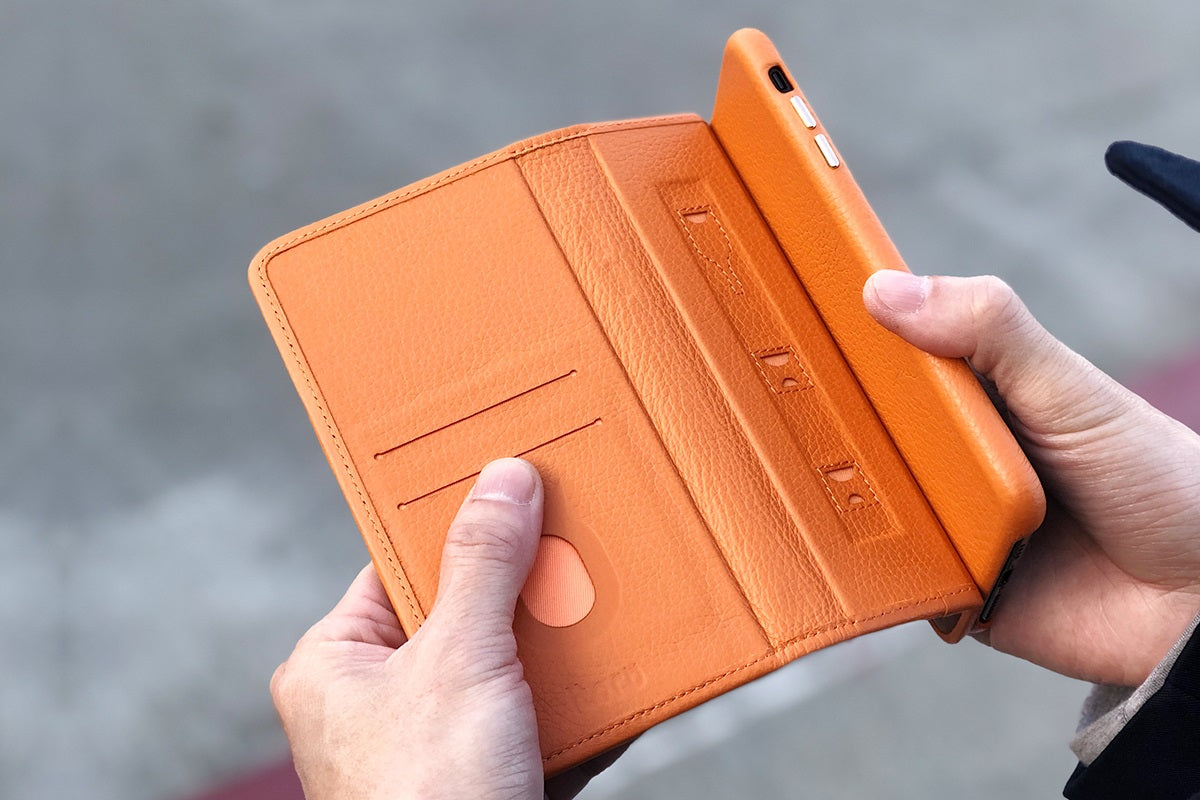 C. Edge Leather Folio_LUX_iPhone X Italian Leather Case