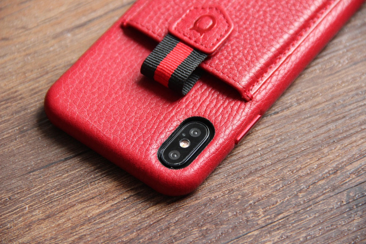 Strap n Go_iPhone X Italian Leather Case