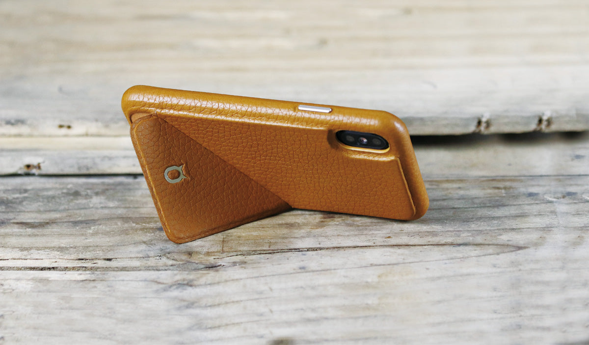 Hide n Go_iPhone X Italian Leather Case