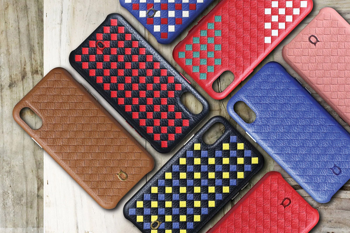 ITALY Leather Weaved Case 2T_iPhone XS Italian Leather Case