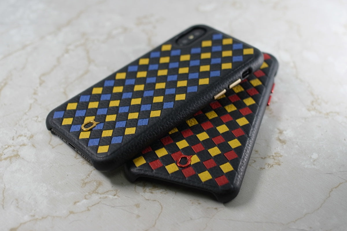 ITALY Leather Weaved Case 3T_iPhone XS Italian Leather Case