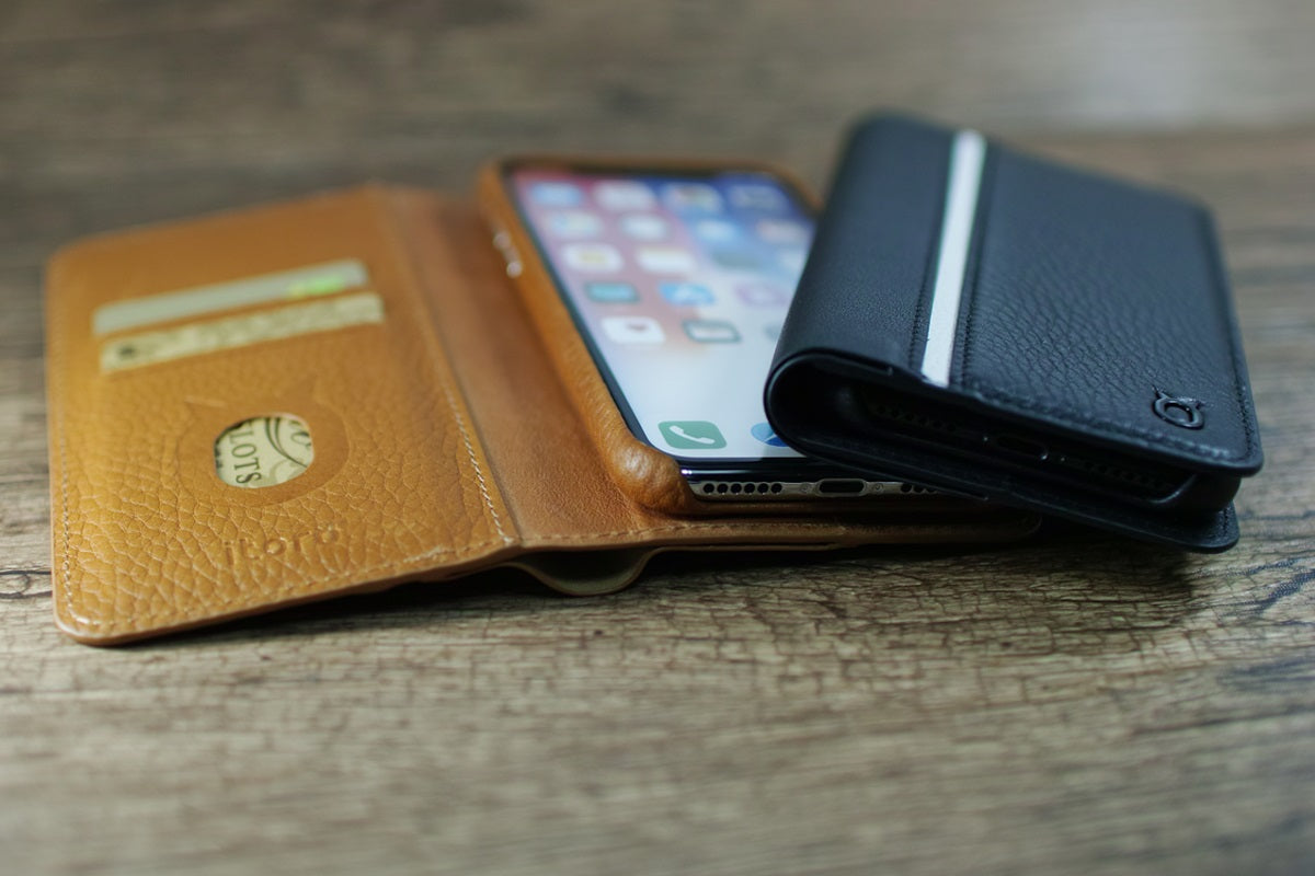 Folio n Go_iPhone X Italian Leather Case