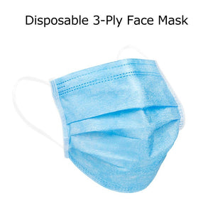 3-Ply Disposable Efficient Face Mask, Medical Mask, Earloop, UltraLight Weight, Polyester Masks for Personal Health