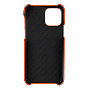 Ostrich Leather iPhone 12 Pro Max Case _ Unique - Orange