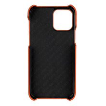 Load image into Gallery viewer, Ostrich Leather iPhone 12 | 12 Pro Case _ Unique - OrangeOstrich Leather iPhone 12 | 12 Pro Case _ Unique - Orange
