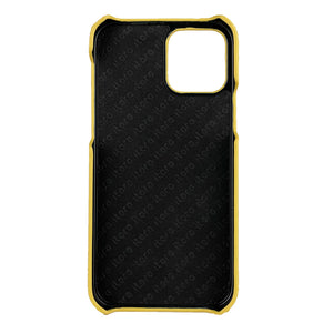 Ostrich Leather iPhone 12 Pro Max Case _ Unique - Yellow