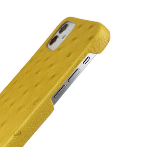 Ostrich Leather iPhone 12 | 12 Pro Case _ Unique - Yellow