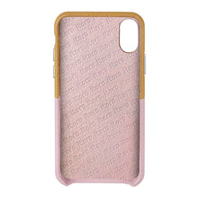 Load image into Gallery viewer, Cover & Go FX _ iPhone XR Italian Leather Case - Brown&Pink