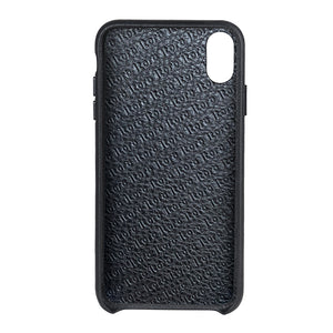Cover & Go FX _ iPhone X Italian Leather Case - Black&Black