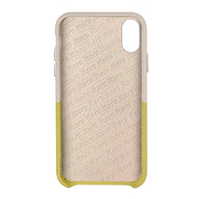 Load image into Gallery viewer, Cover & Go FX _ iPhone X Italian Leather Case - Beige&Yellow