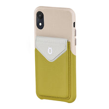 Load image into Gallery viewer, Cover & Go FX _ iPhone XS Italian Leather Case - Beige&Yellow