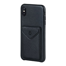 Load image into Gallery viewer, Cover & Go FX _ iPhone XS Italian Leather Case - Black&Black