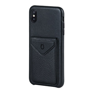 Cover & Go FX _ iPhone XS Italian Leather Case - Black&Black