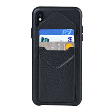 Load image into Gallery viewer, Cover & Go FX _ iPhone X Italian Leather Case - Black&Black