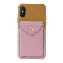 Load image into Gallery viewer, Cover & Go FX _ iPhone XS Italian Leather Case - Brown&Pink