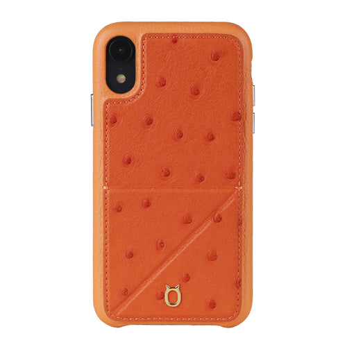 Ostrich Leather Case_ iPhone XS Italian Leather Case - iToro