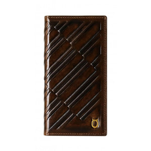 Emboss Leather Folio_iPhone XS Italian Leather Case - Rosewood Brown