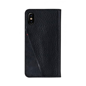 Fur x Leather_iPhone XS Italian Leather Case - Leather Black