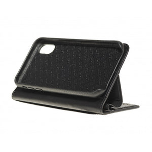 Folio n Go_iPhone X Italian Leather Case - Leather Black