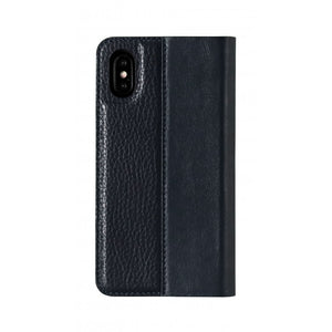 Folio n Go_iPhone X Italian Leather Case - Sapphire Blue