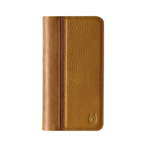 Folio n Go_iPhone XS Italian Leather Case - Camel Brown