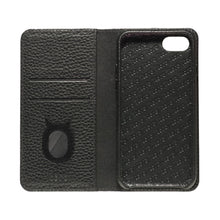 Load image into Gallery viewer, Folio n Go_iPhone 7 / 8 Italian Leather Case - Leather Black