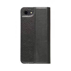 Folio n Go_iPhone 7 / 8 Italian Leather Case - Leather Black