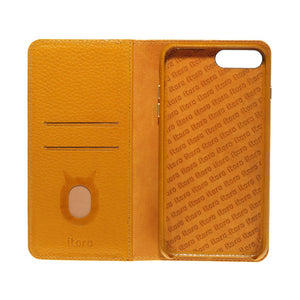 Folio n Go_iPhone 7 / 8 Plus Italian Leather Case - Camel Brown