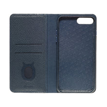 Load image into Gallery viewer, Folio n Go_iPhone 7 / 8 Plus Italian Leather Case - Sapphire Blue