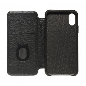 Soft Touch Leather Folio_iPhone XS Italian Leather Case - iToro