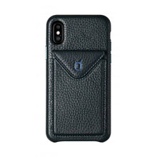 Load image into Gallery viewer, Cover n Go_iPhone X Italian Leather Case - Sapphire Blue