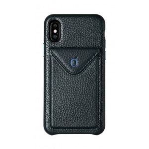 Cover n Go_iPhone X Italian Leather Case - Sapphire Blue
